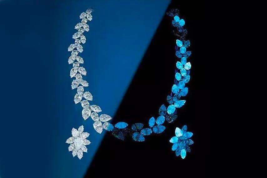 荧光天然钻石
