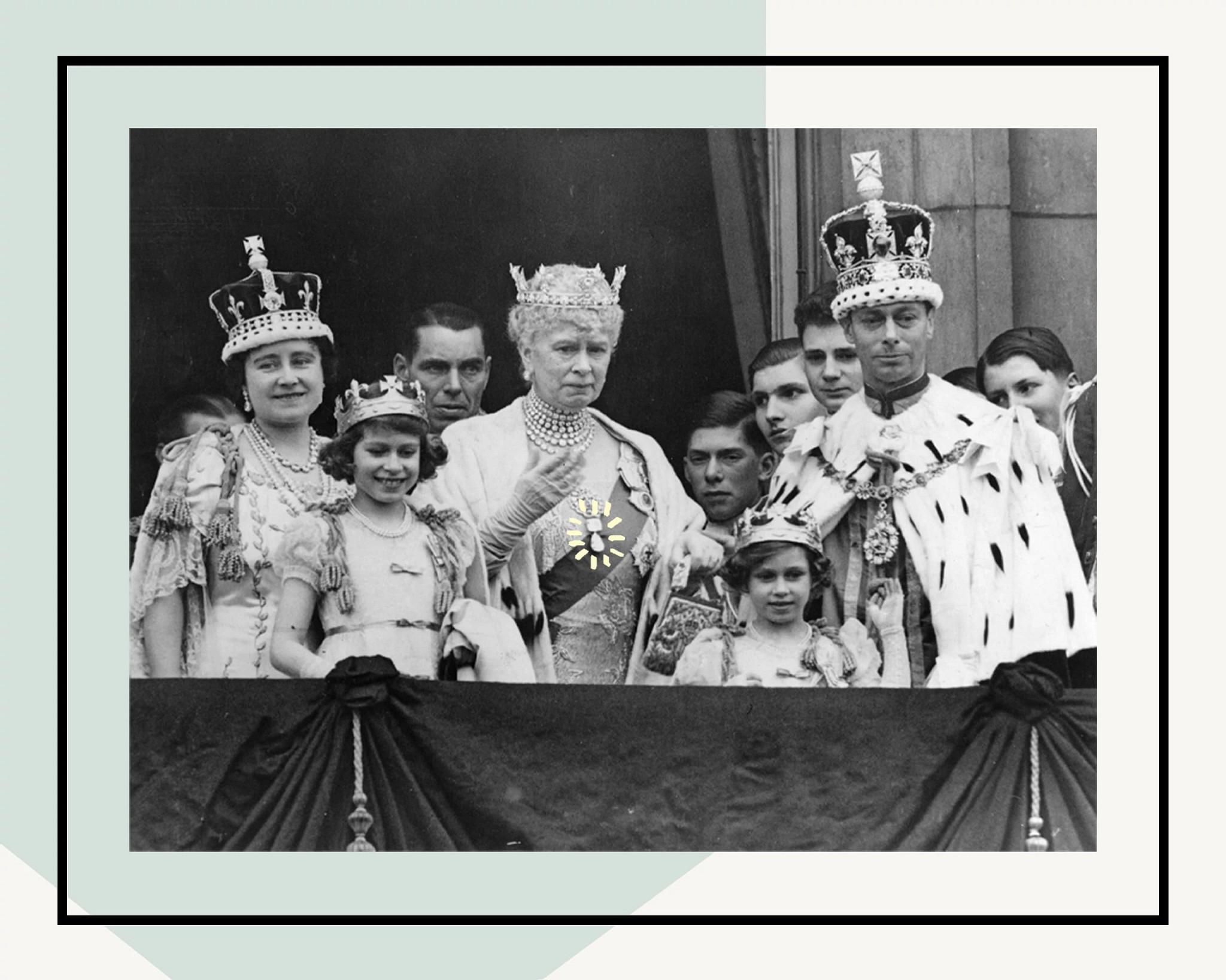 在乔治六世加冕仪式上的皇室一家人