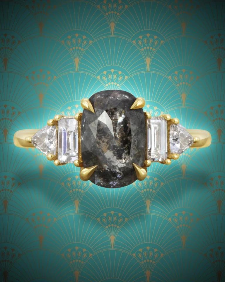 Michelle Oh天然钻石戒指
