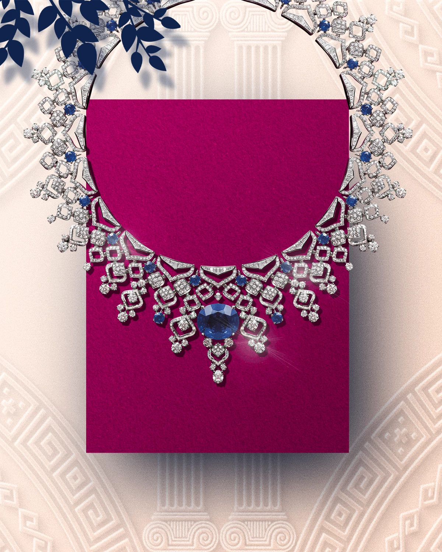 蓝宝石蕾丝项链