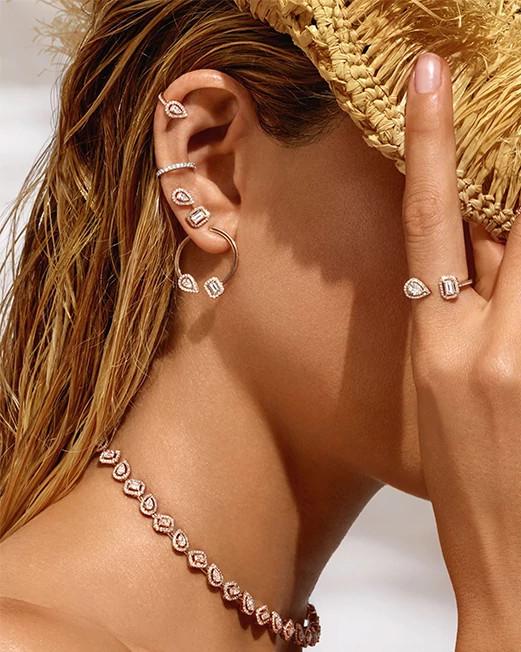天然钻石流行首饰