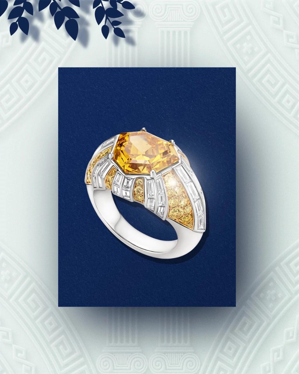 流光溢彩天然钻石戒指