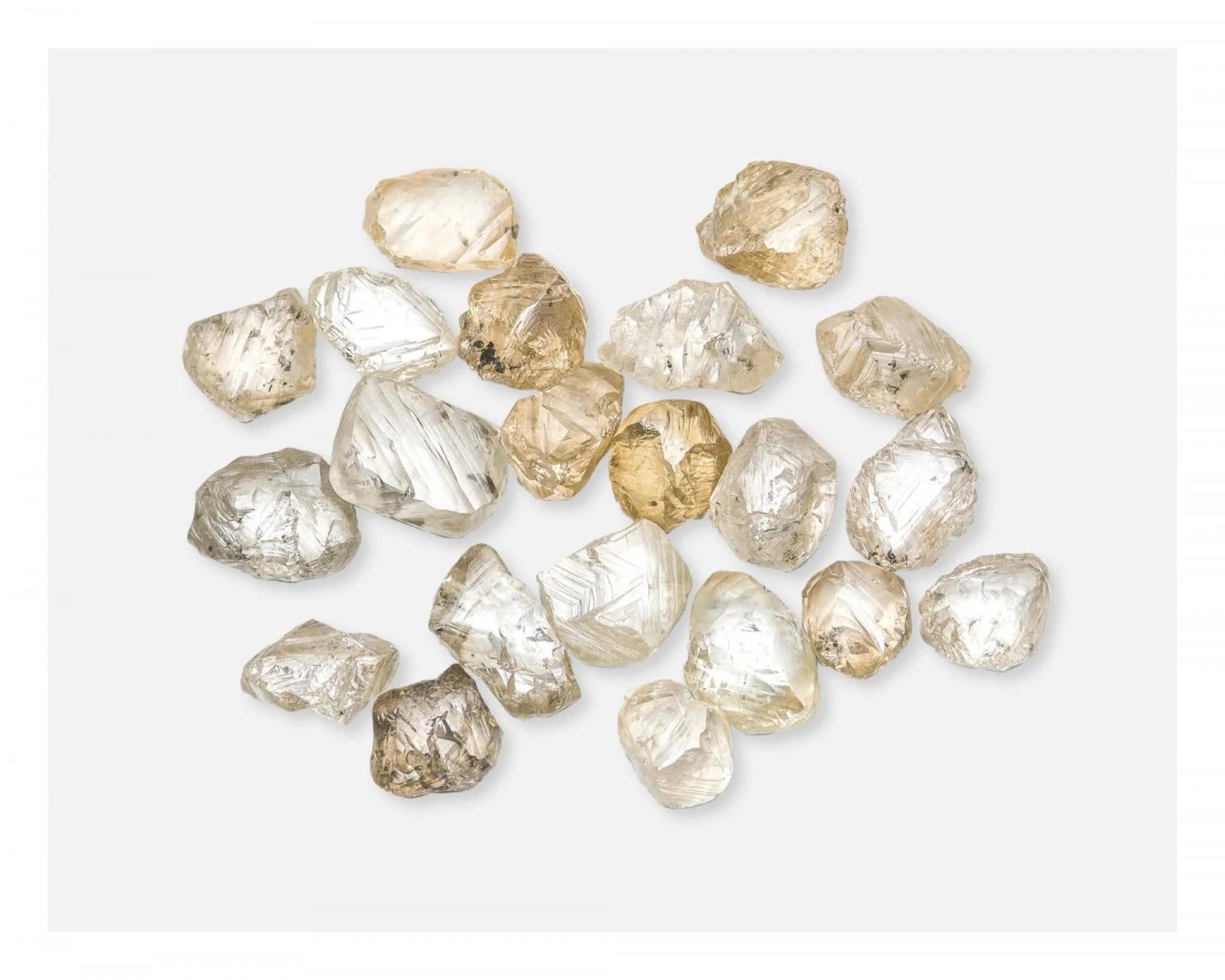 来自埃罗莎 钻石矿的棕色天然钻石