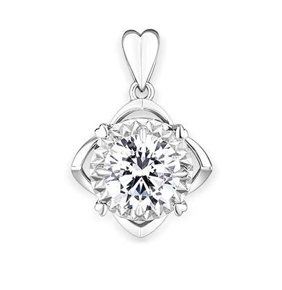 六福珠宝爱很美 18K金钻石挂坠