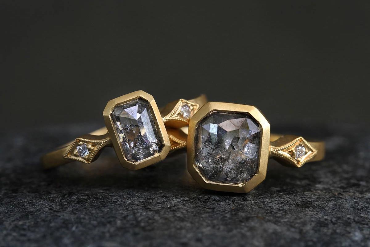 Cathy Waterman低调奢华的天然钻石戒指