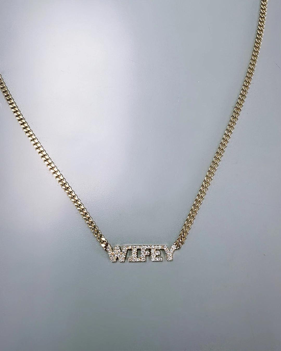 XIV Karats天然钻石项链