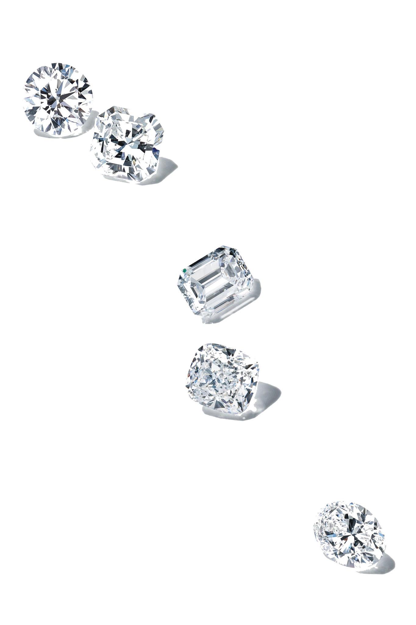 未镶嵌的天然钻石