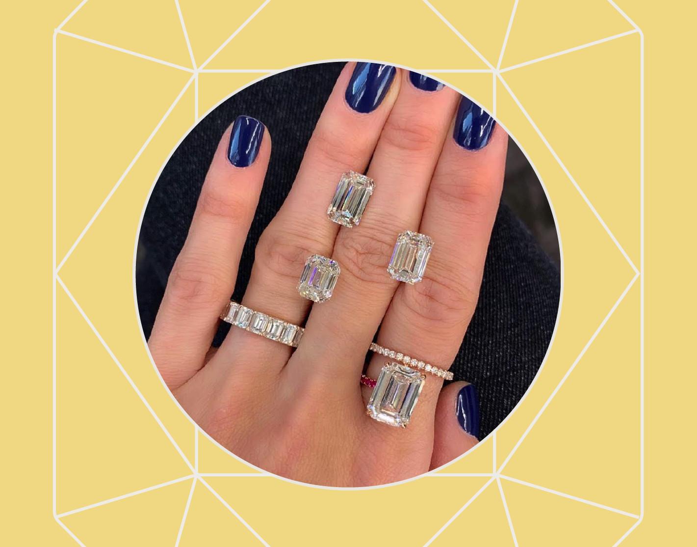 斯蒂芬妮·戈特利布设计的天然钻石订婚戒指