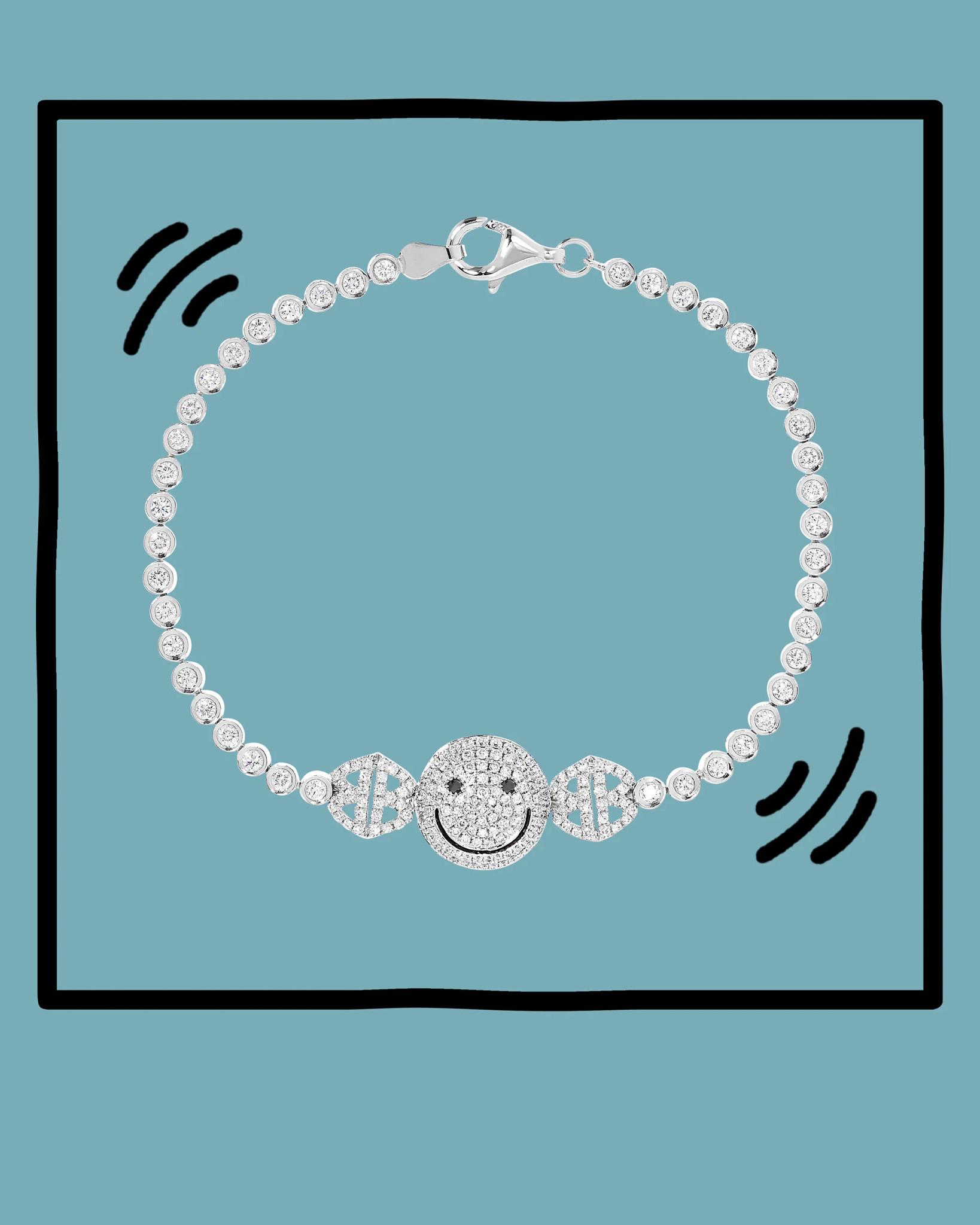 洛琳·施瓦茨天然钻石手链