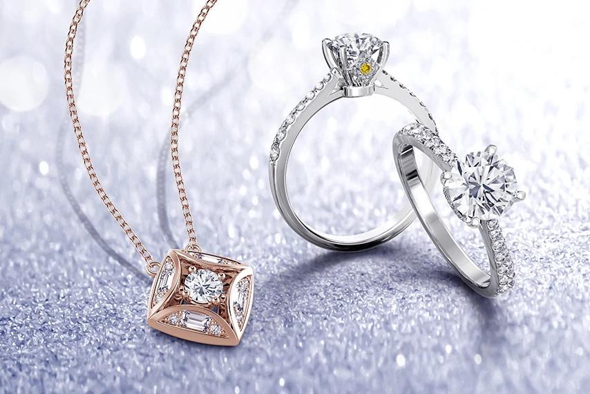 天然钻石饰品