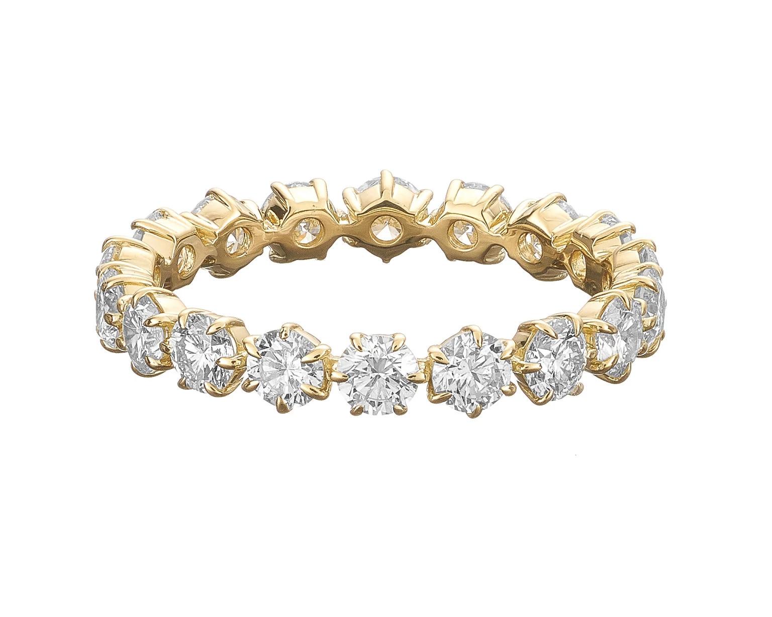 Jade Trau Catherine Eternity No. 3 天然钻石戒指黄金款