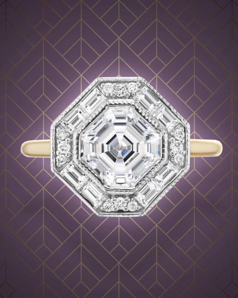 Ashley Zhang天然钻石戒指