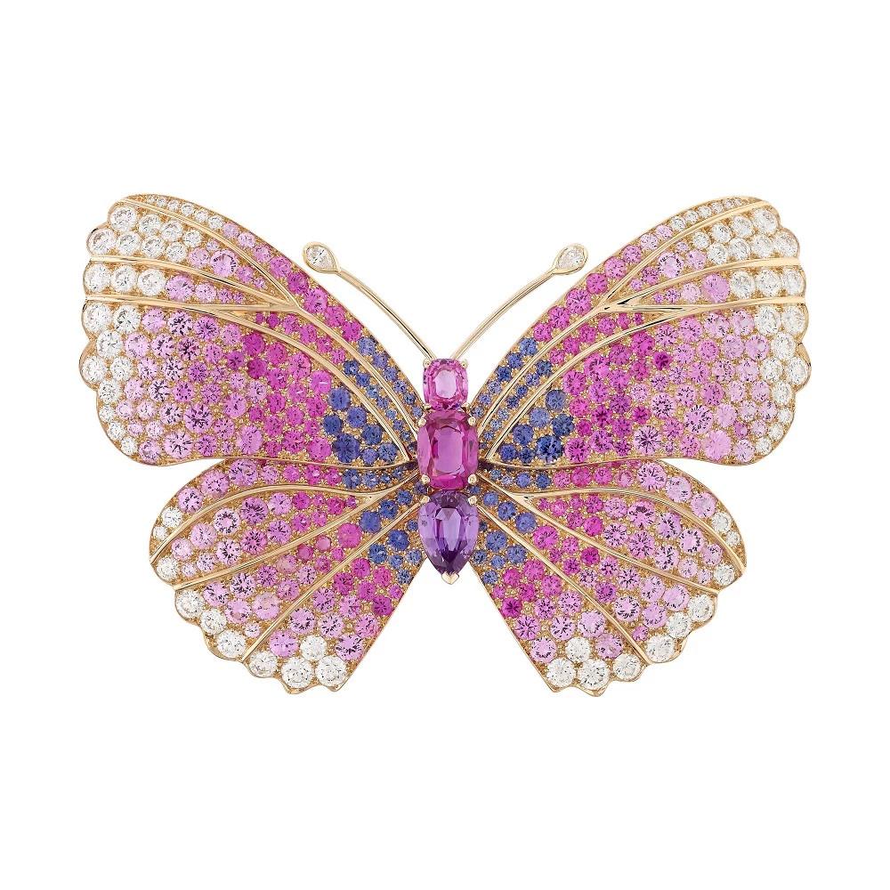 Butterfly 铂金胸针