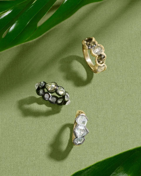 Kimberly McDonald、Todd Pownell和Sylva & Cie天然钻石原石戒指