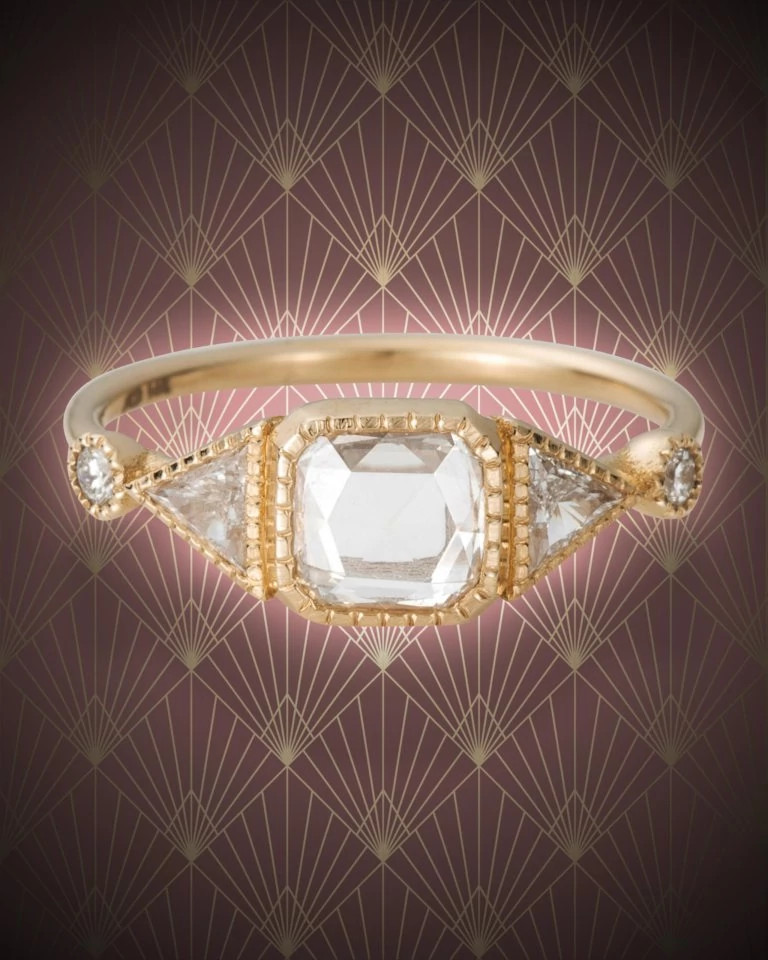 Jennie Kwon天然钻石戒指