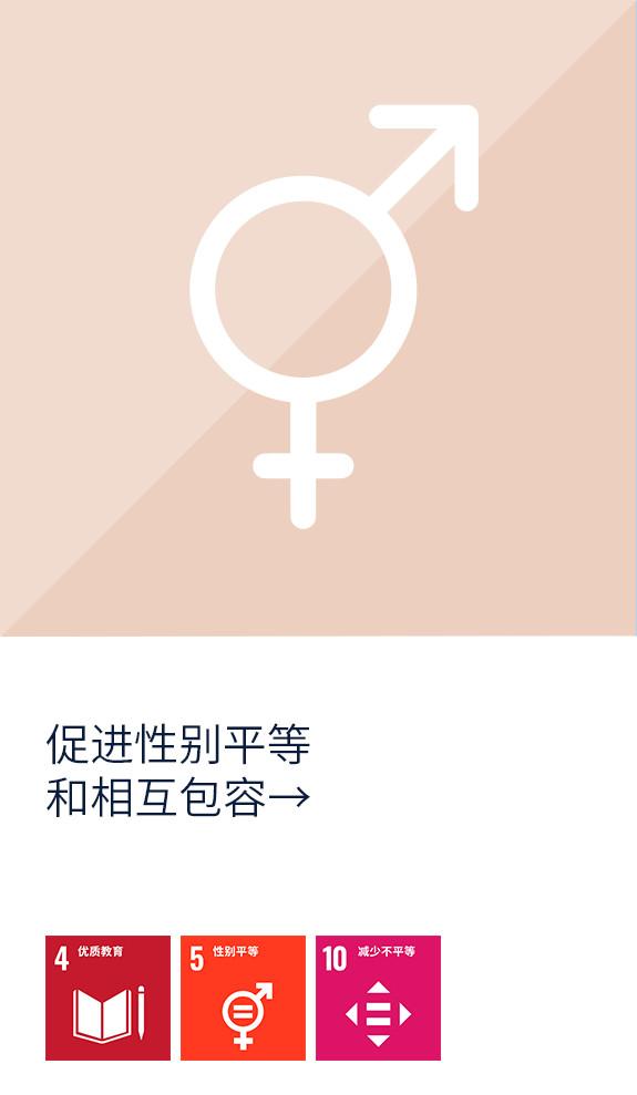 促进性别平等和相互包容