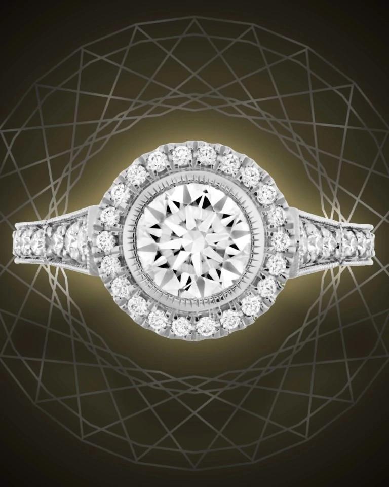 Hearts On Fire天然钻石戒指