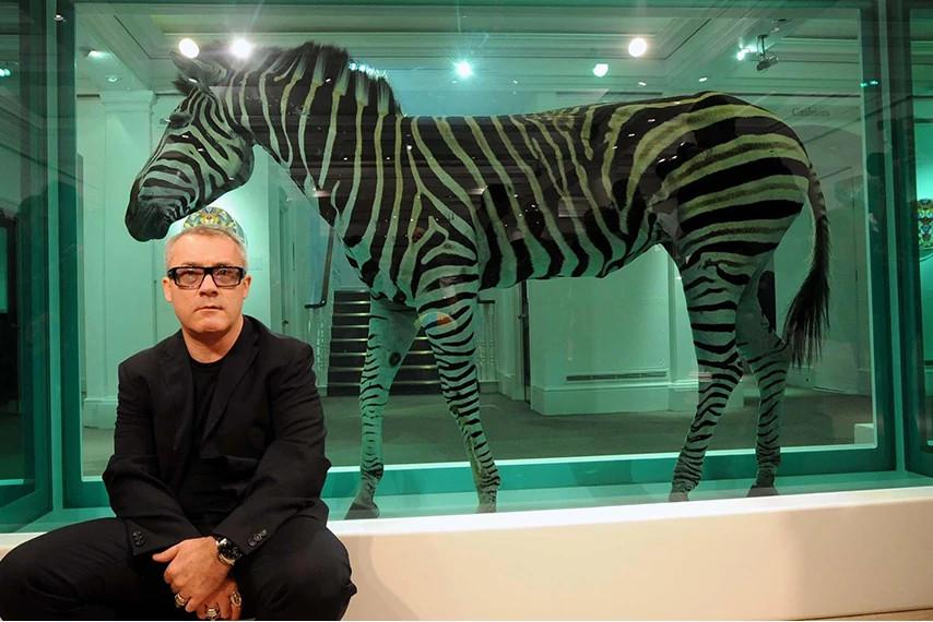 达米安·赫斯特 与他的艺术作品
