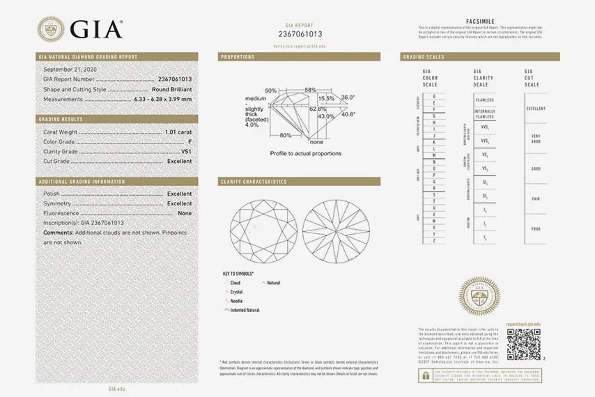 GIA天然钻石证书