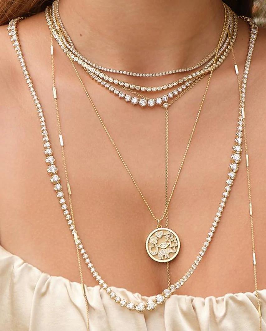 詹妮弗·梅耶(Jennifer Meyer)设计的叠戴项链
