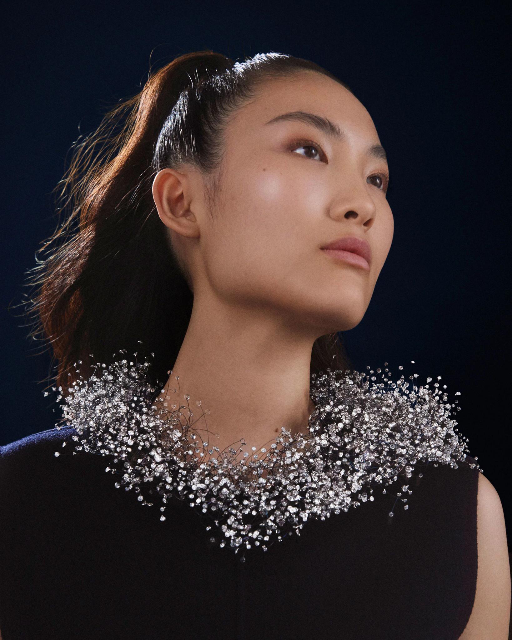 宝诗龙Nuage en Apesanteur高级珠宝系列天然钻石项链