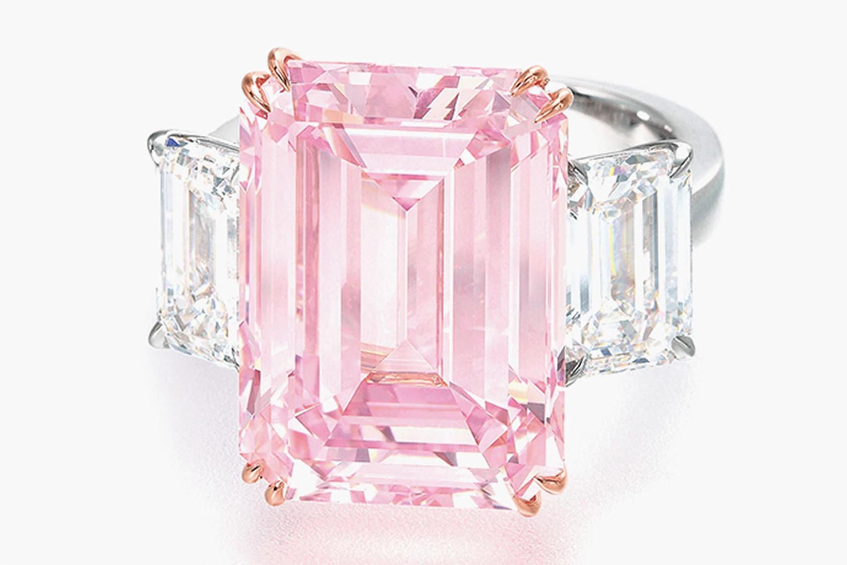 14.23克拉的粉钻戒指
