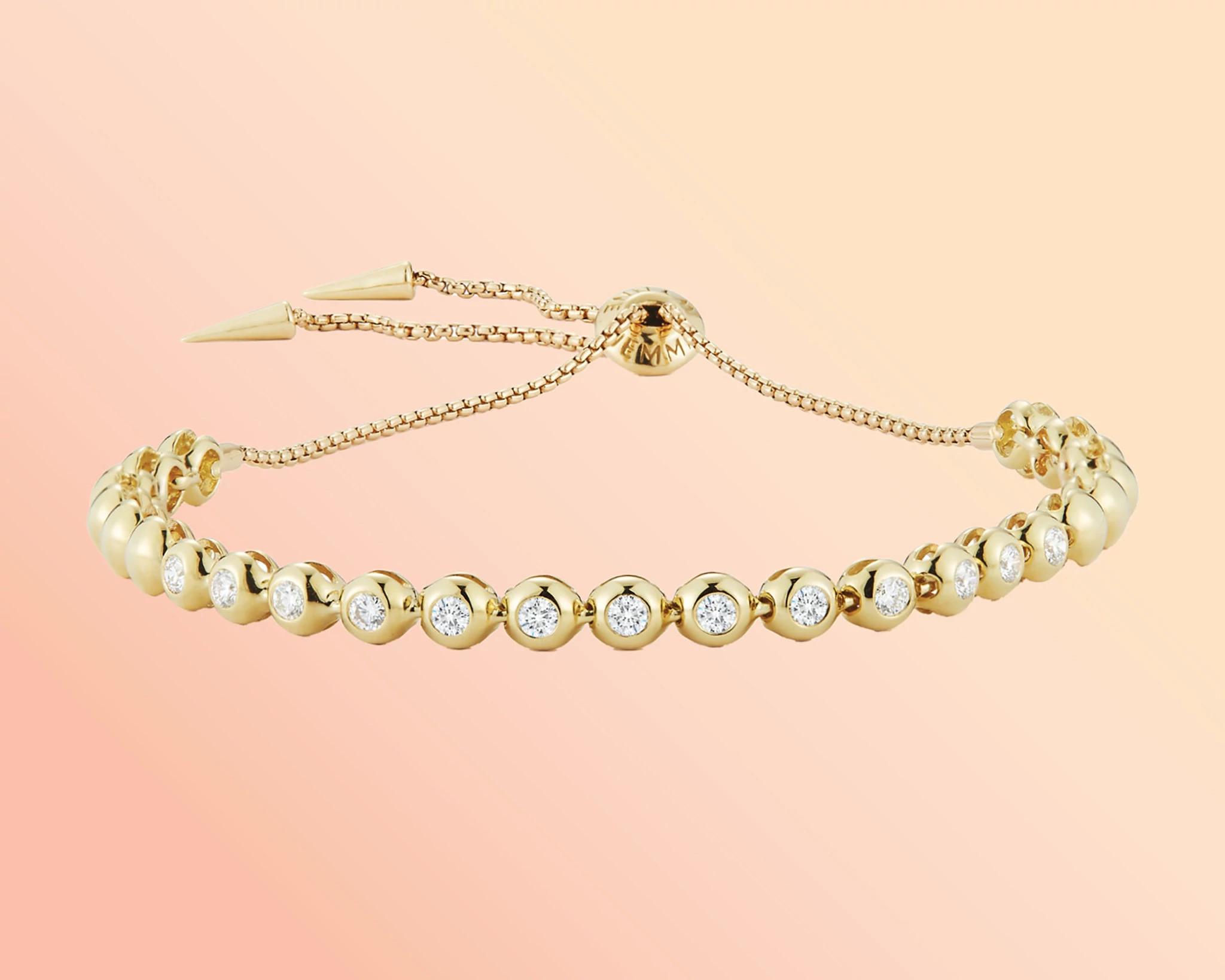 杰玛·温妮设计的天然钻石手链