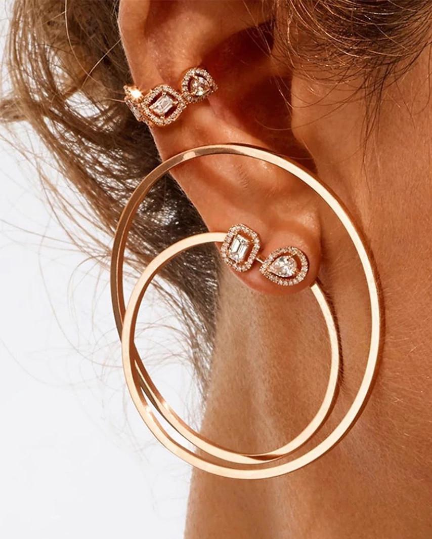 Valérie Messika圆形天然钻石耳钉