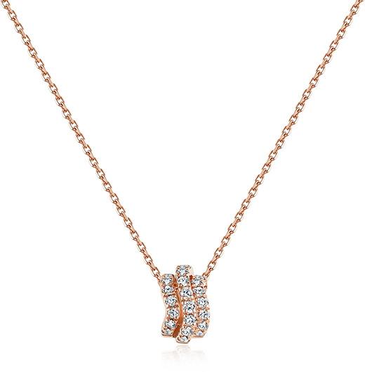 谢瑞麟18K金钻石项链