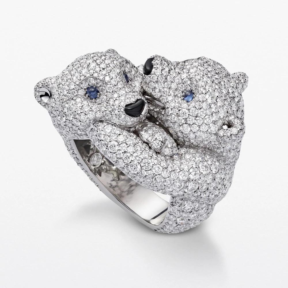 White Teddy Bears 白金戒指