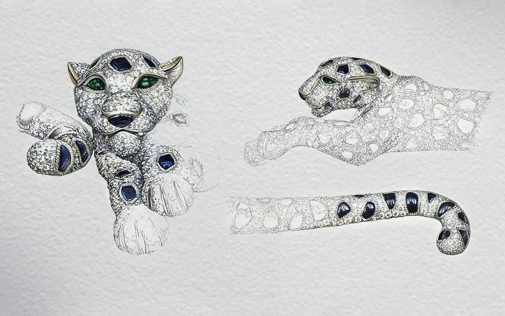 Cartier猎豹造型珠宝