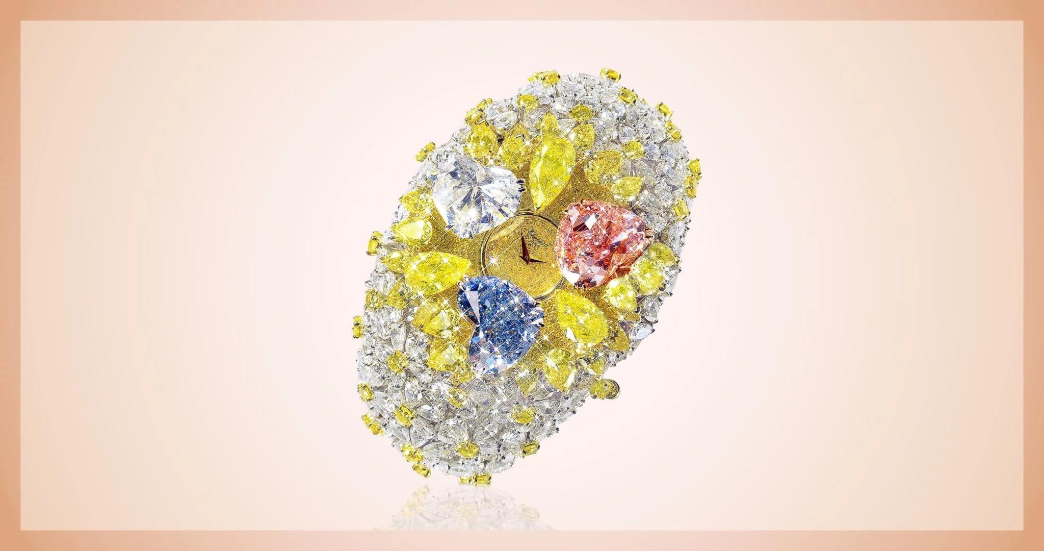 201克拉的萧邦彩色天然钻石手表