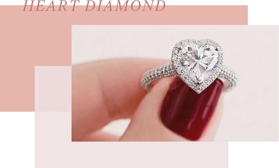 心型天然钻石戒指