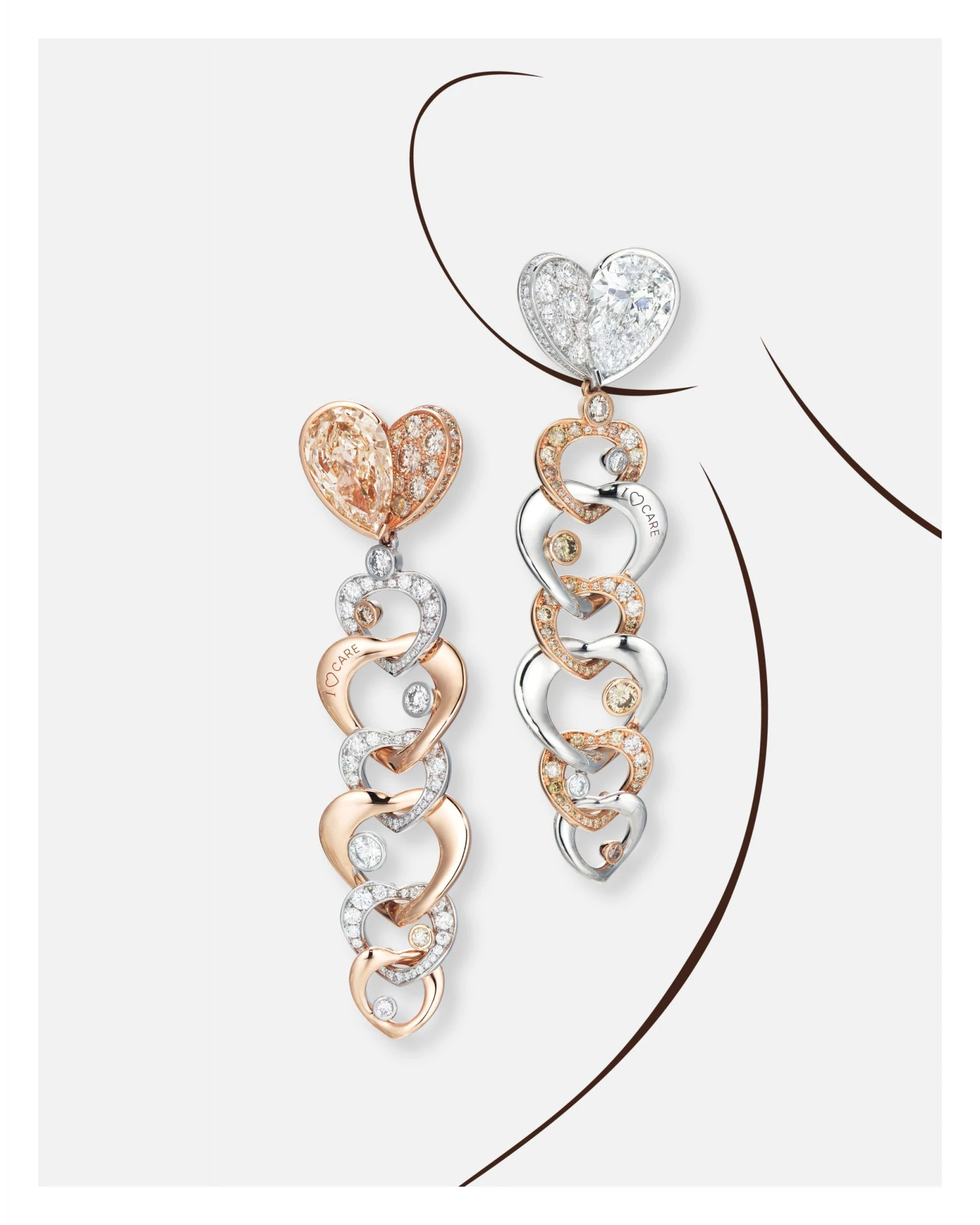 """胡茵菲为""""胡茵菲设计的第二件天然钻石珠宝"""