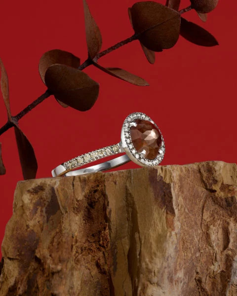 Sethi Couture和Cathy Waterman天然钻石原石戒指