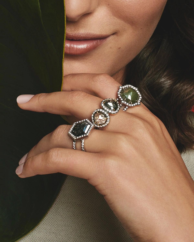 Sylva & Cie天然钻石原石戒指